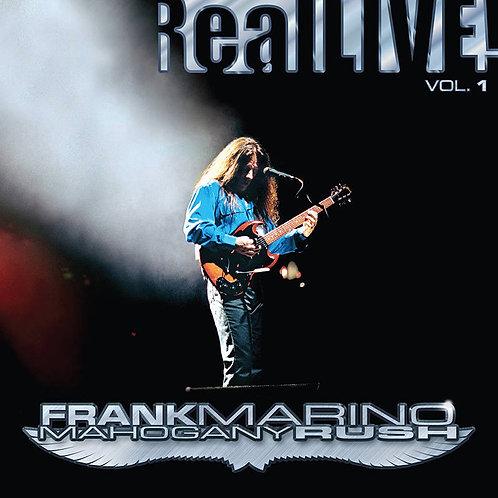 FRANK MARINO & MAHOGANY RUSH 2xLP Real LIVE! Vol. 1 (RSD Drops October 2020)