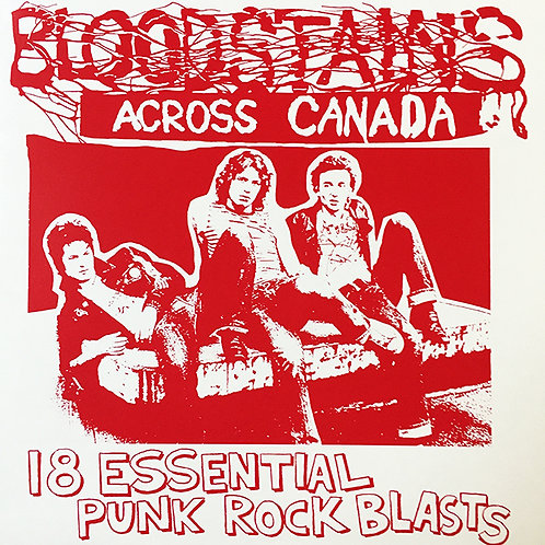 VARIOUS LP Bloodstains Across Canada (Red Coloured Vinyl)