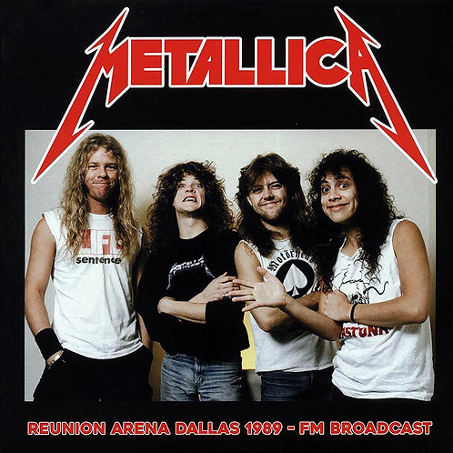 METALLICA 2xLP Reunion Arena Dallas 1989 - FM Broadcast