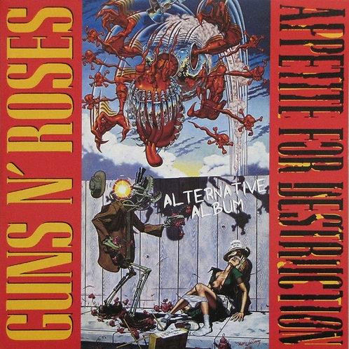 GUNS N' ROSES LP Appetite For Destruction Alternative Album (White Colour Vinyl)