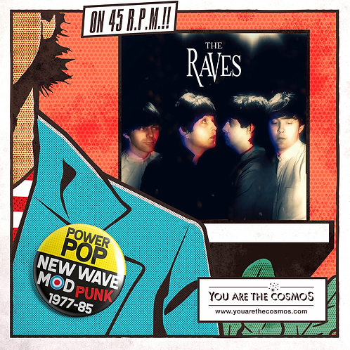 """THE RAVES 7"""" EP Chastity (2nd pressing of 200 copies)"""