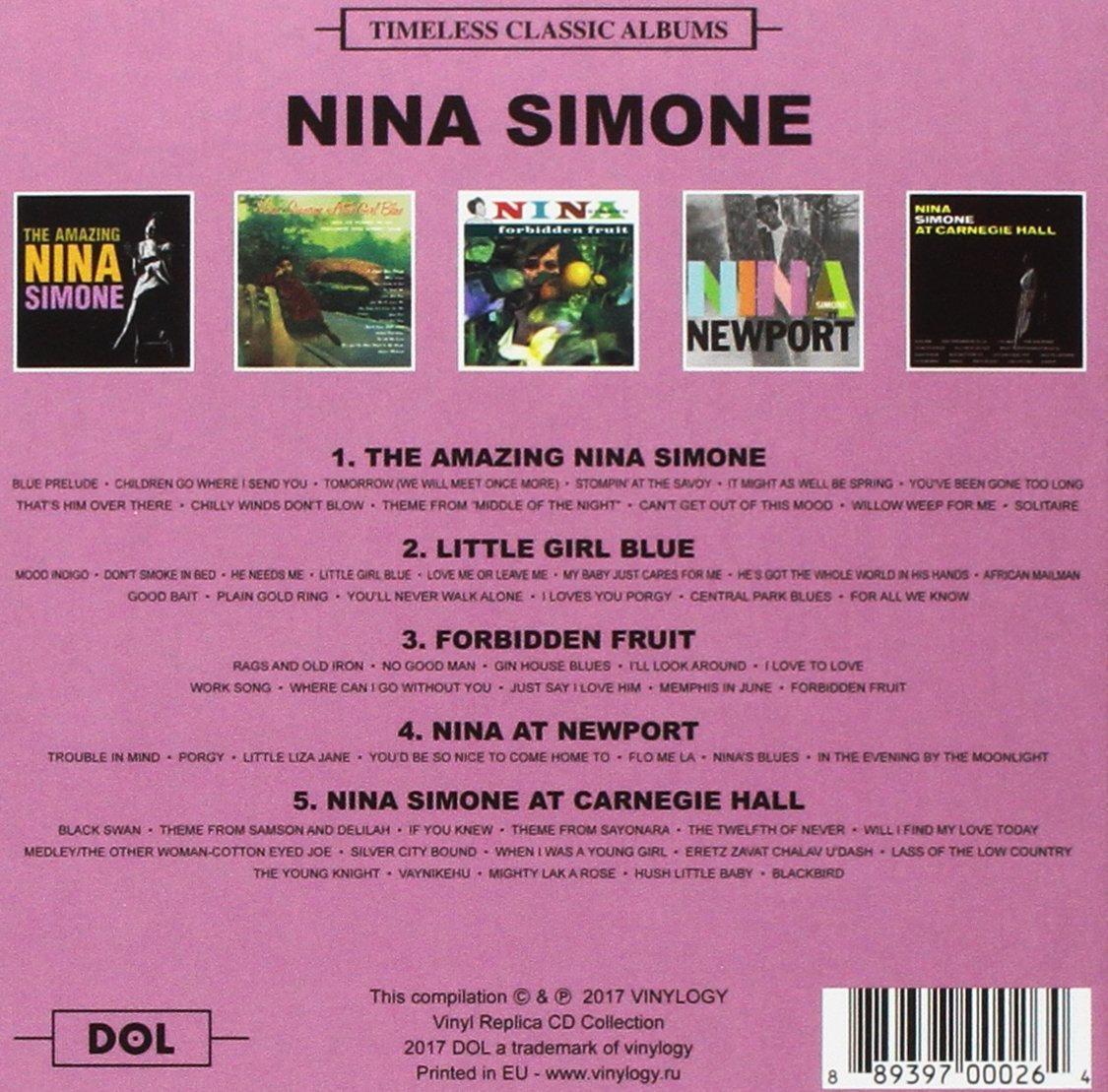 NINA SIMONE BOX SET 5xCD Timeless Classic Albums | shivamusic