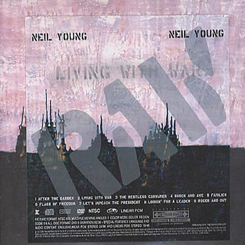 "NEIL YOUNG CD+DVD Living With War (""In The Beginning"") RAW"