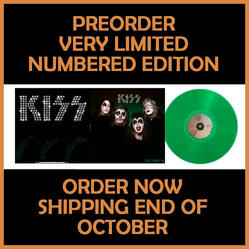 KISS LP OUTTAKES III (Green Coloured Numbered Vinyl)