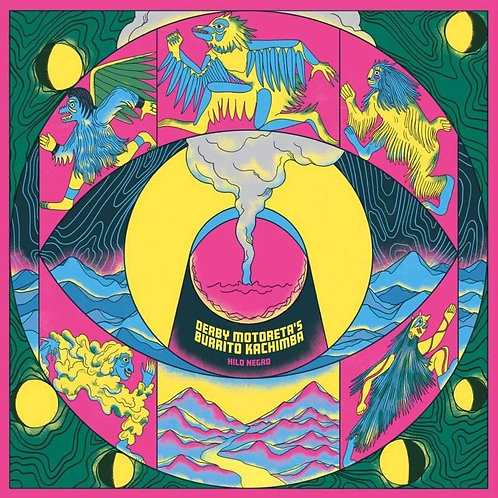 DERBY MOTORETA'S BURRITO KACHIMBA LP Hilo Negro (Neon Magenta Coloured Vinyl)