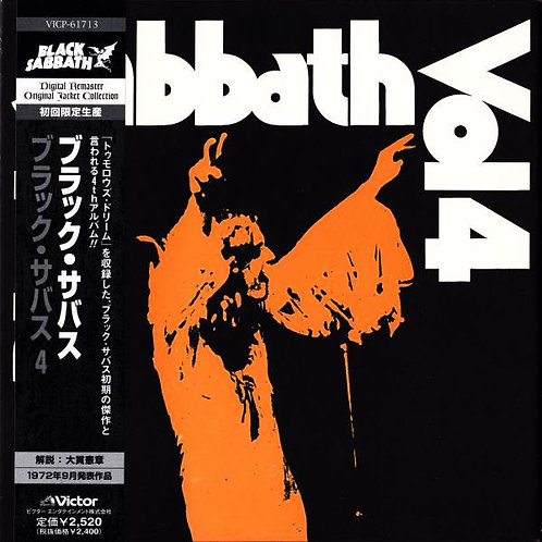 BLACK SABBATH CD Black Sabbath Vol 4 (Japan Mini Lp replica)