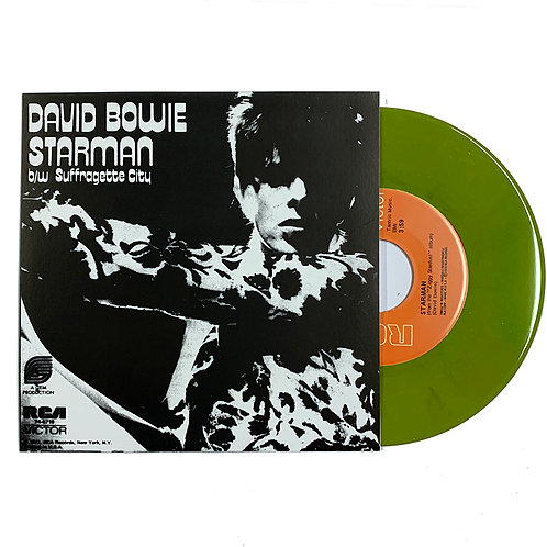 "DAVID BOWIE 7"" Starman / Suffragette City (Green Coloured Vinyl)"