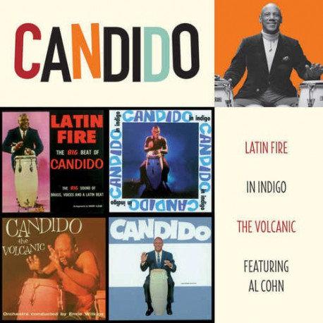 CANDIDO 2XCD Latin Fire + In Indigo + The Volcanic + Featuring Al Cohn