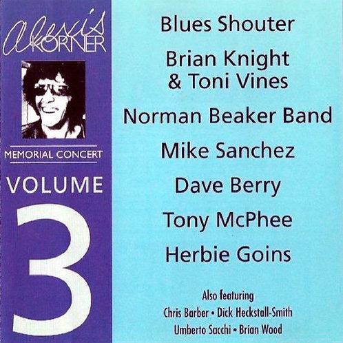 ALEXIS KORNER CD Memorial Concert Vol 3
