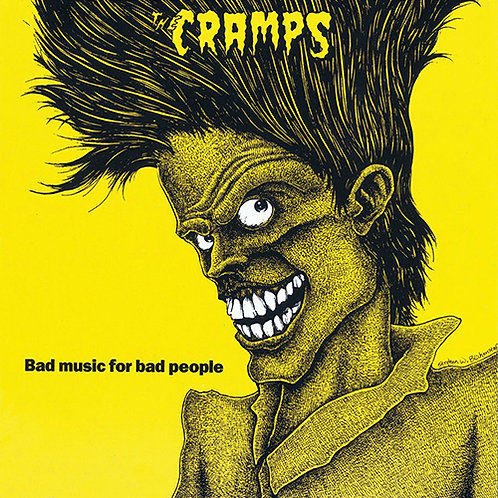 THE CRAMPS LP Bad Music For Bad People (Yellow Coloured Vinyl)