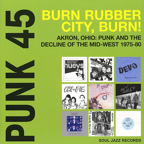 VARIOS 2xLP Punk 45: Burn Rubber City Burn!