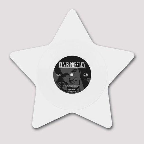 """ELVIS PRESLEY 9"""" White Star (Star Shaped White Coloured Vinyl)"""