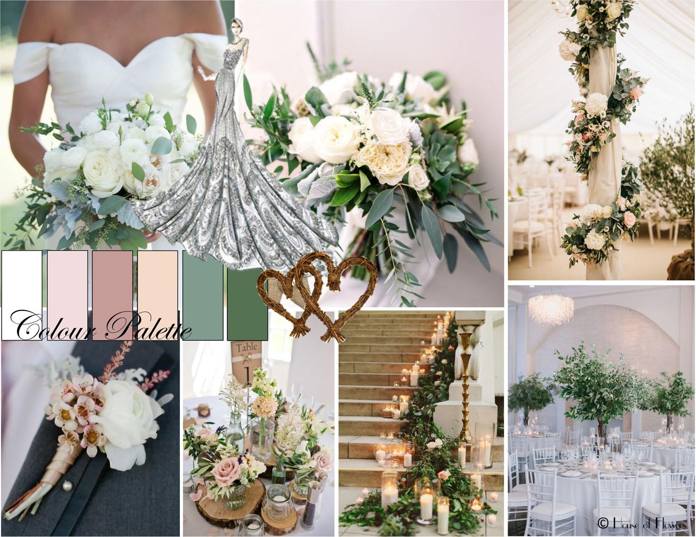 Romantic pastel wedding flowers