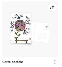 Carte postale Vata Design tableau fleur