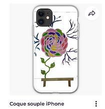 Coque souple iphone Vata Design tableau