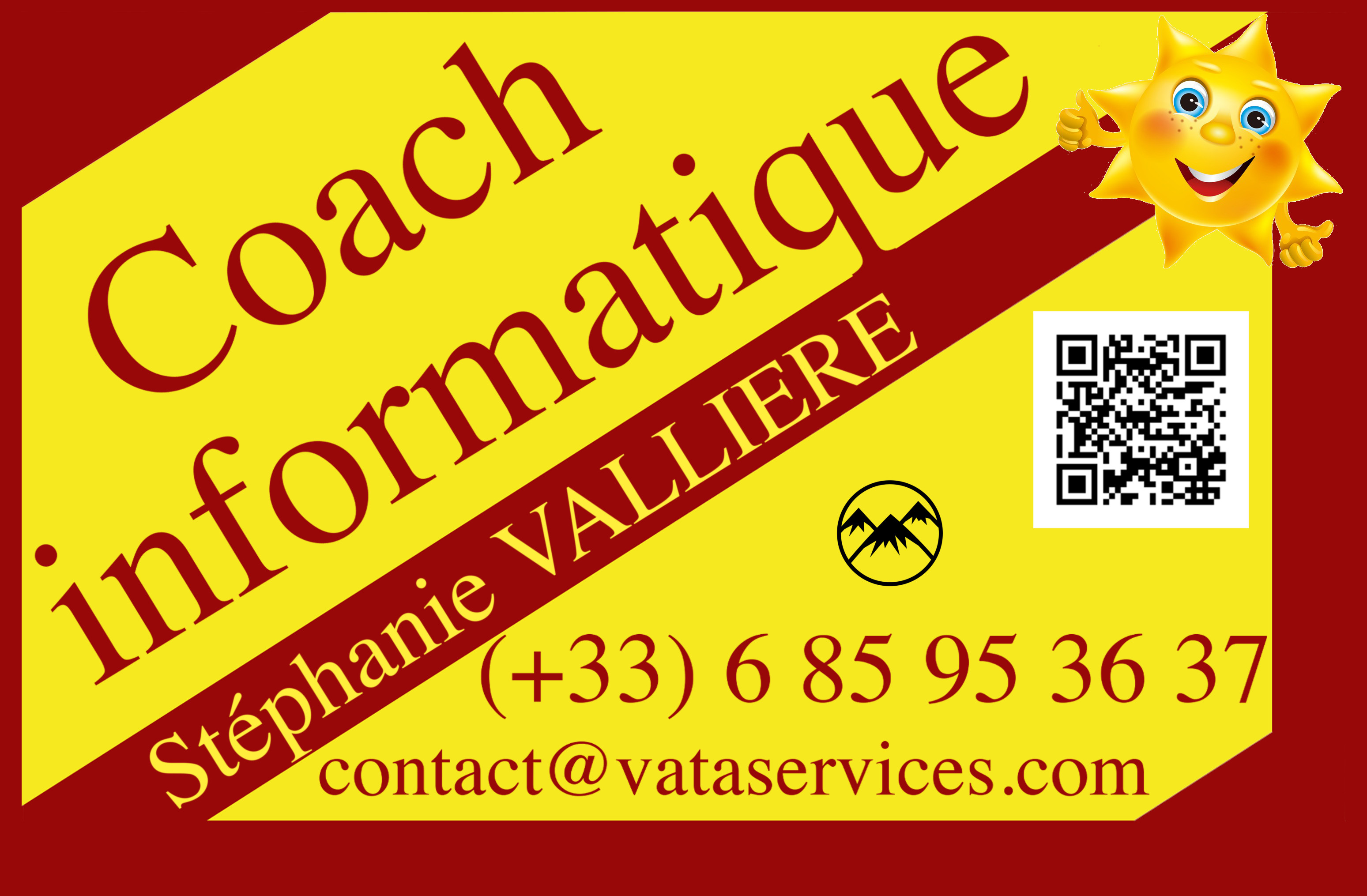 Cartes de visite Coach Informatique Vata