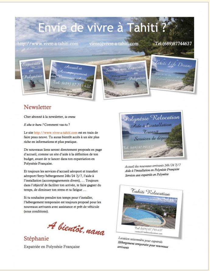 Flyer brochure newsletter, Vata Design