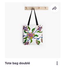 Sac tot bag Redbubble Fleurs Vata Design