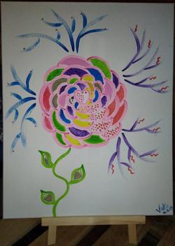 Photo tableau Vata peinture acrylique fl