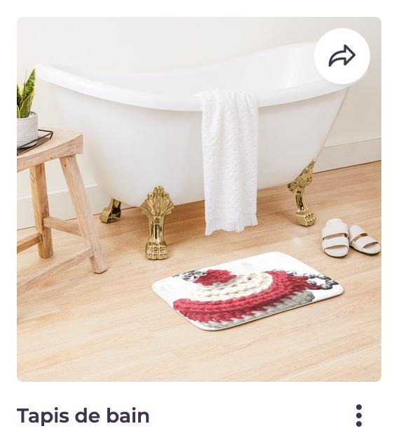 Redbubble Vata Design, tapis de douche,