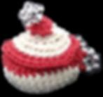 Photo creation en crochet mini paniere r