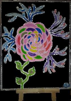 Tableau peinture acrylique Vata fleur co
