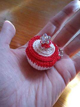 Photo creation mini paniere en crochet V