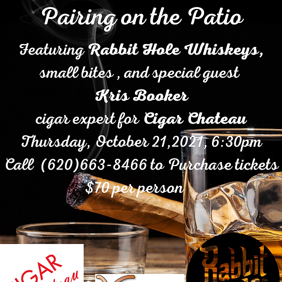 Annual Spirits and Cigar Pairing on the Patio