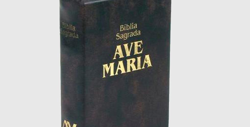 Bíblia Ave Maria de Bolso com Zípper