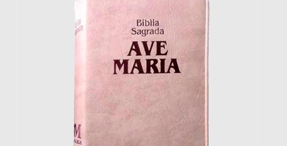 Bíblia Sagrada da Ave Maria (Capa Rosa com Zíper)