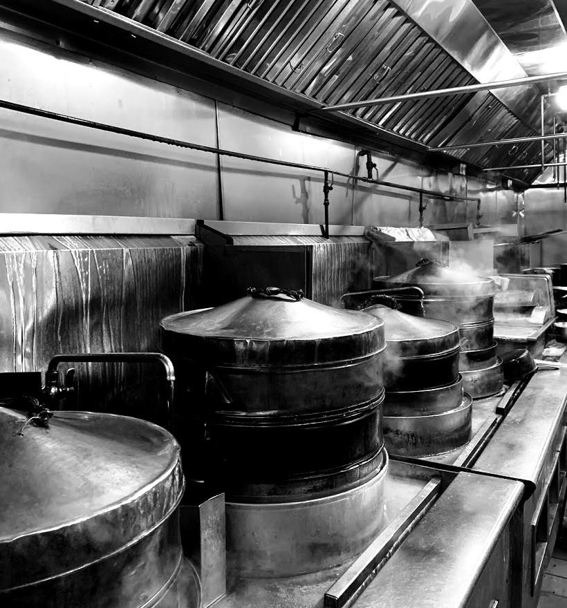 dim sum steamer in kitchen
