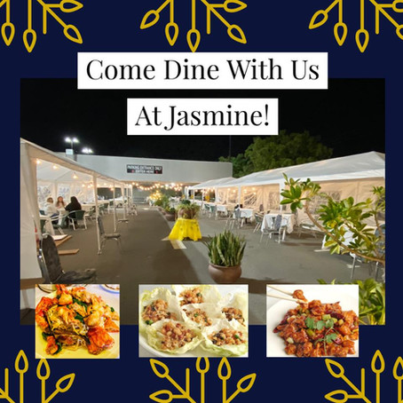 Jasmine Service Update: Outdoor Dining is Here!