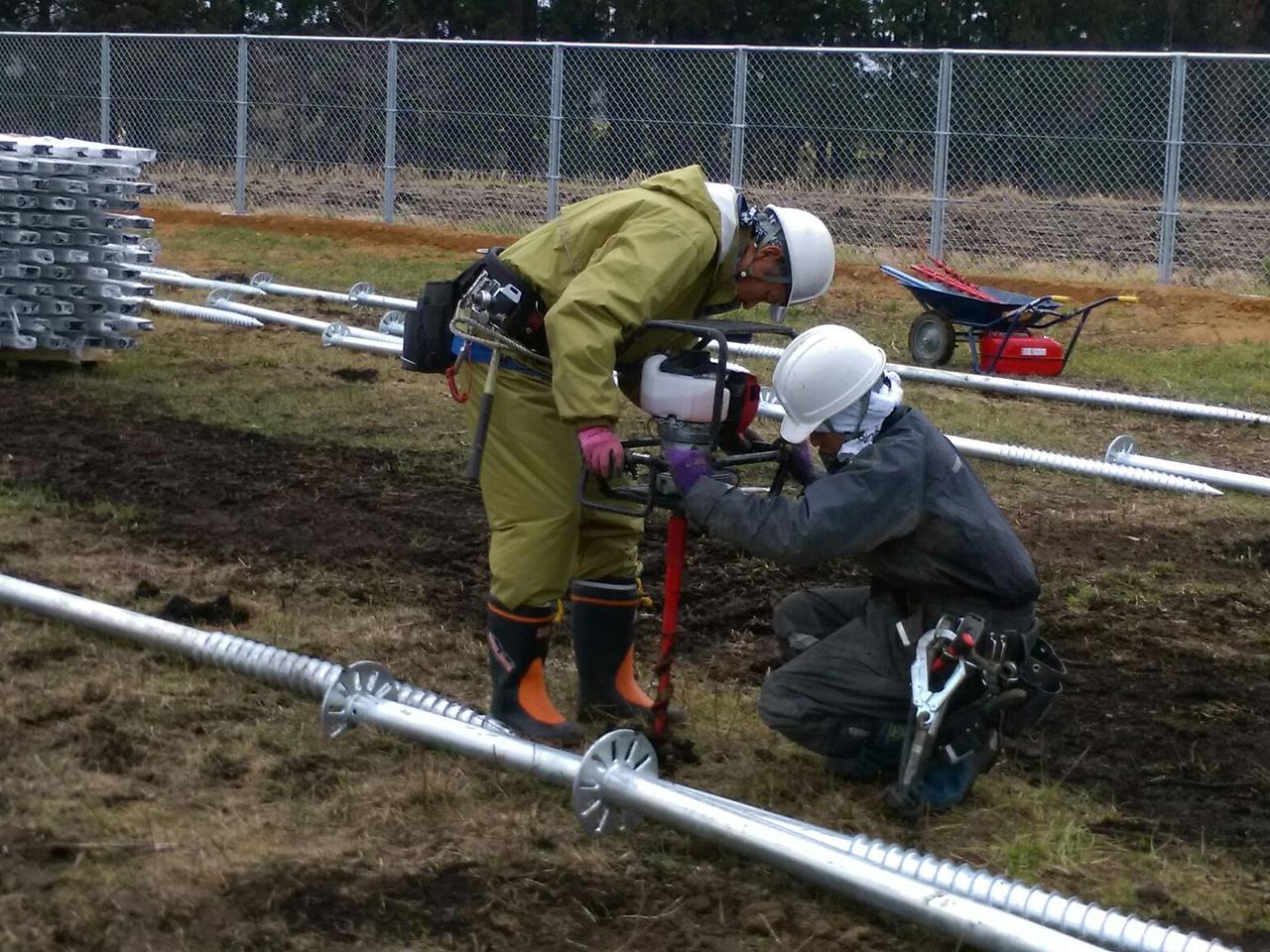3MW野立太陽光工事