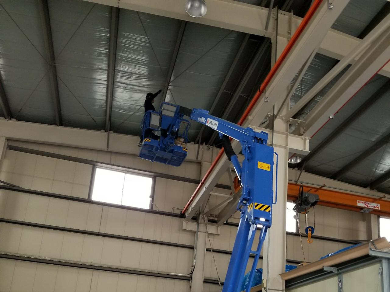 工場照明交換工事