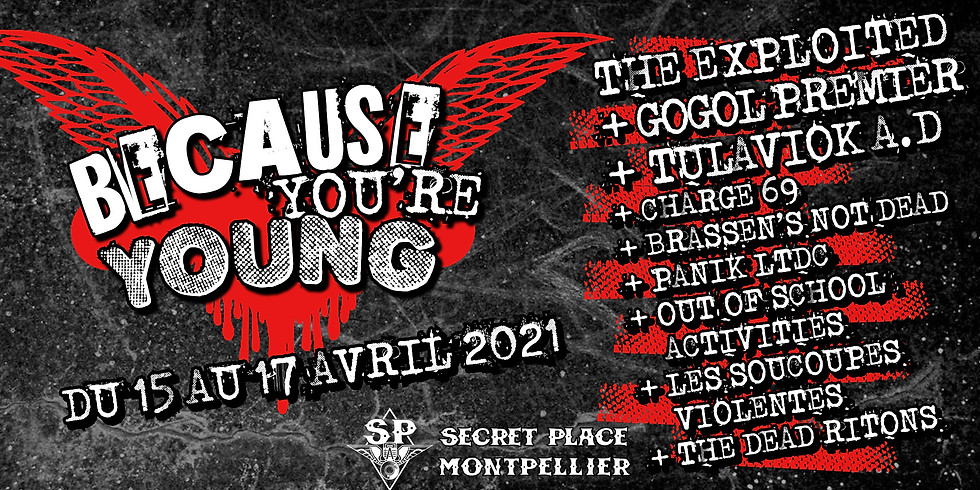 BECAUSE YOU'RE YOUNG - 17 avril 2021