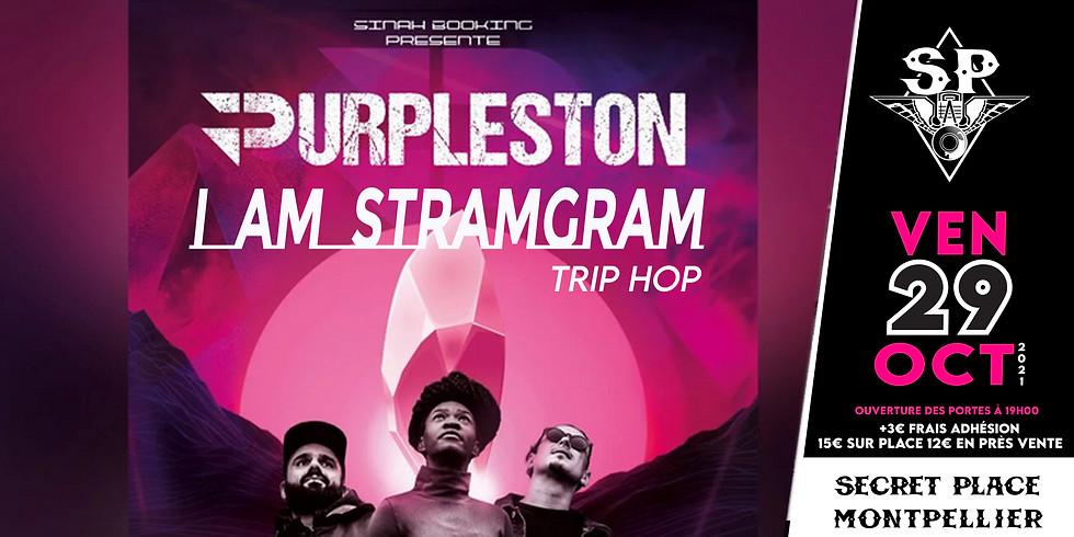 PURPLESTON + I AM STRAMGRAM