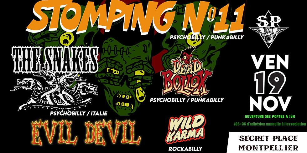 STOMPING N°11 J1 - THE SNAKES + EVIL DEVIL + DEAD BOLLOX + WILD KARMA + DJ
