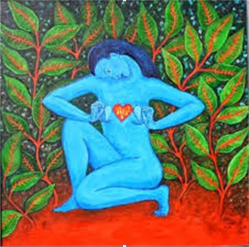 Woman with Open Heart