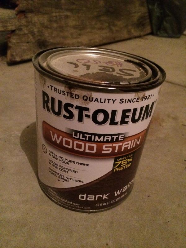 rustoleum walnut wood stain