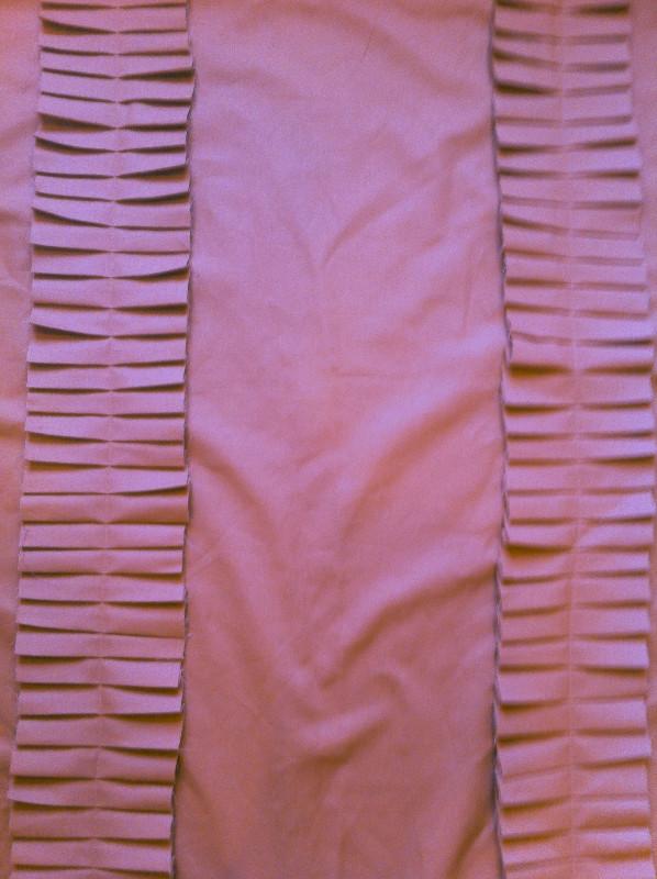 sewn accordion fabric on curtains