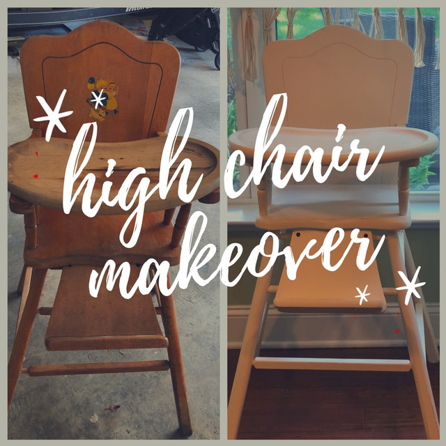 Vintage High Chair Makeover