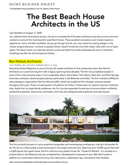 The Best Beach House Architects in the U