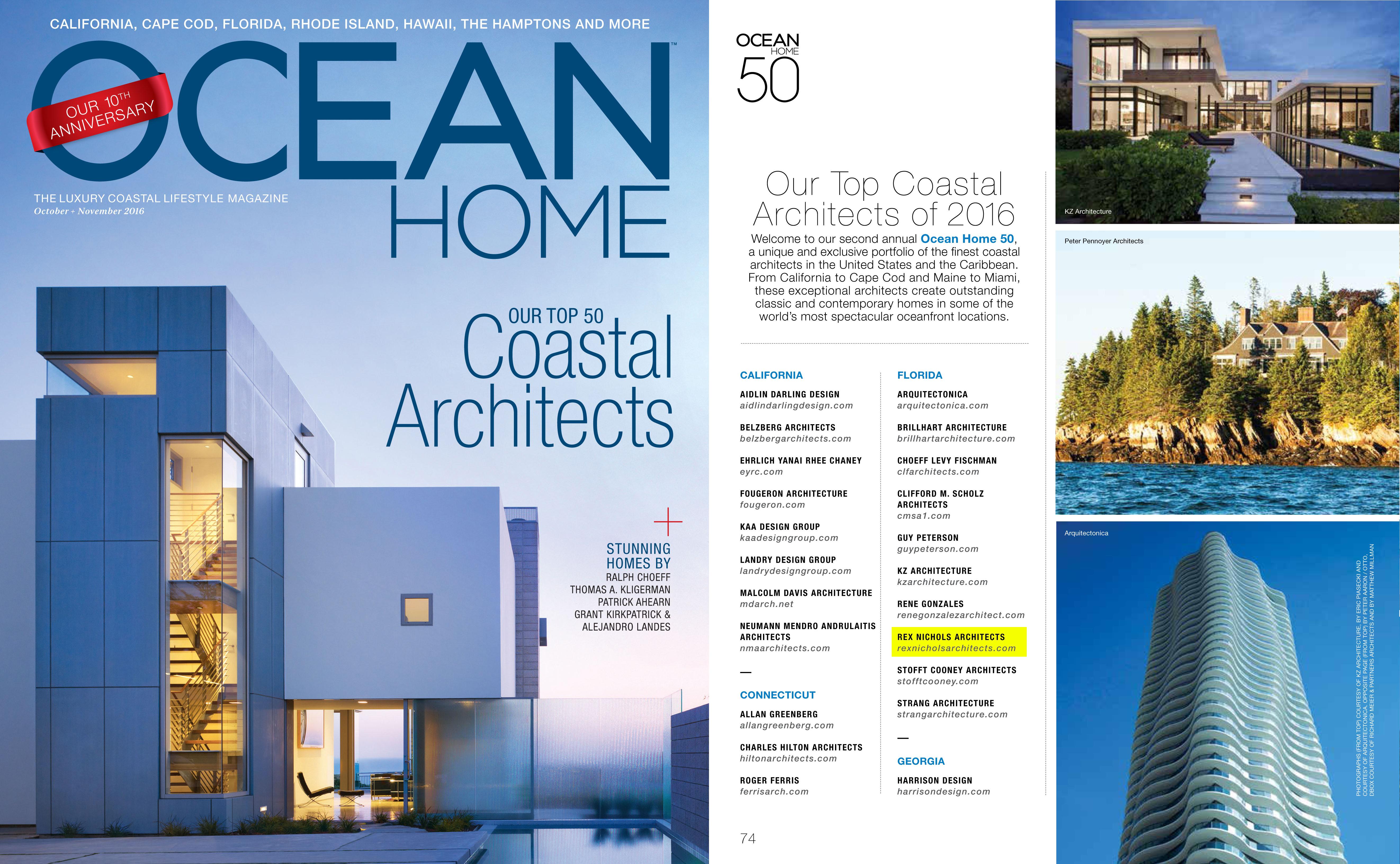 Top 50 Coastal Architects of 2016