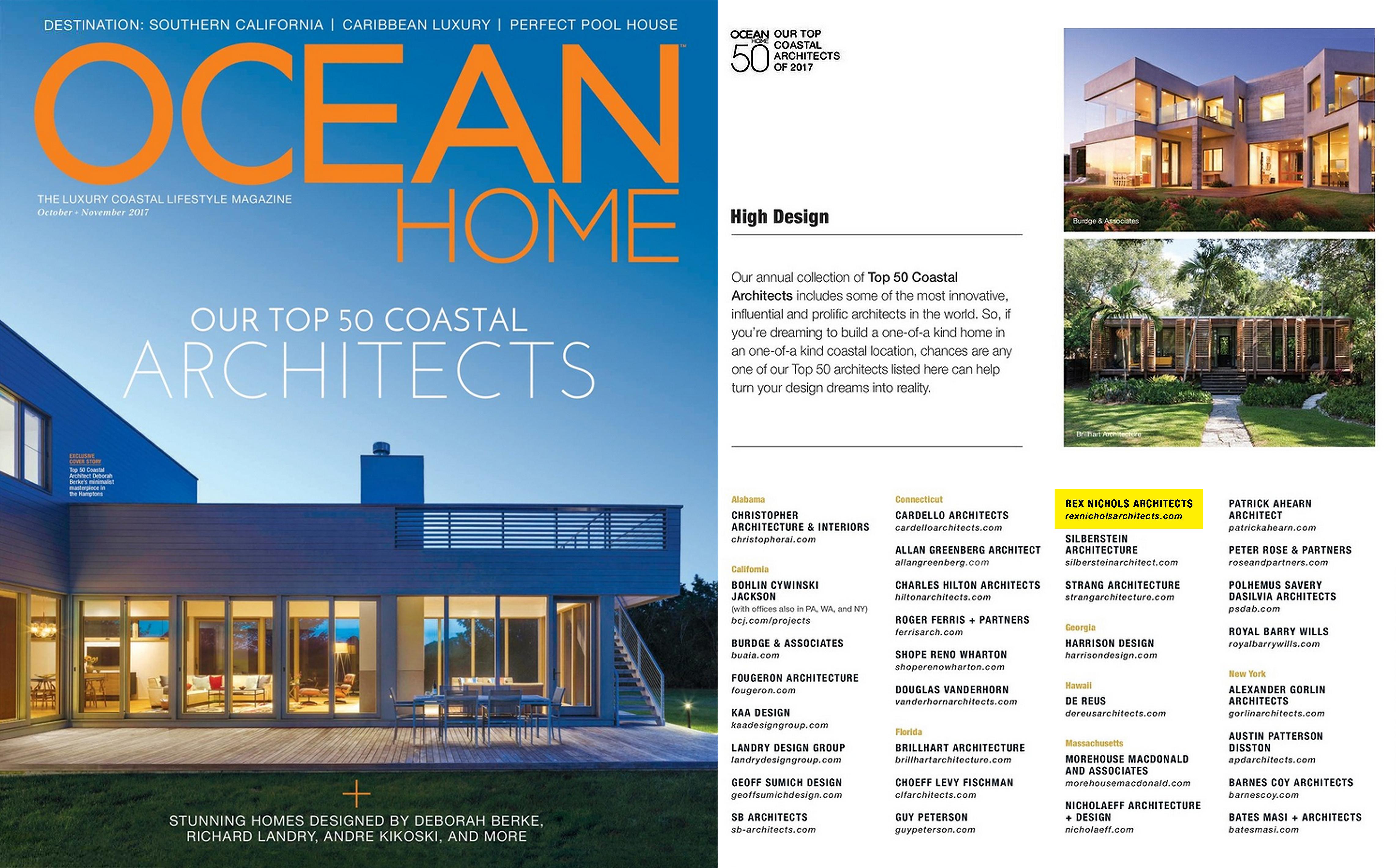 Top 50 Coastal Architects of 2017