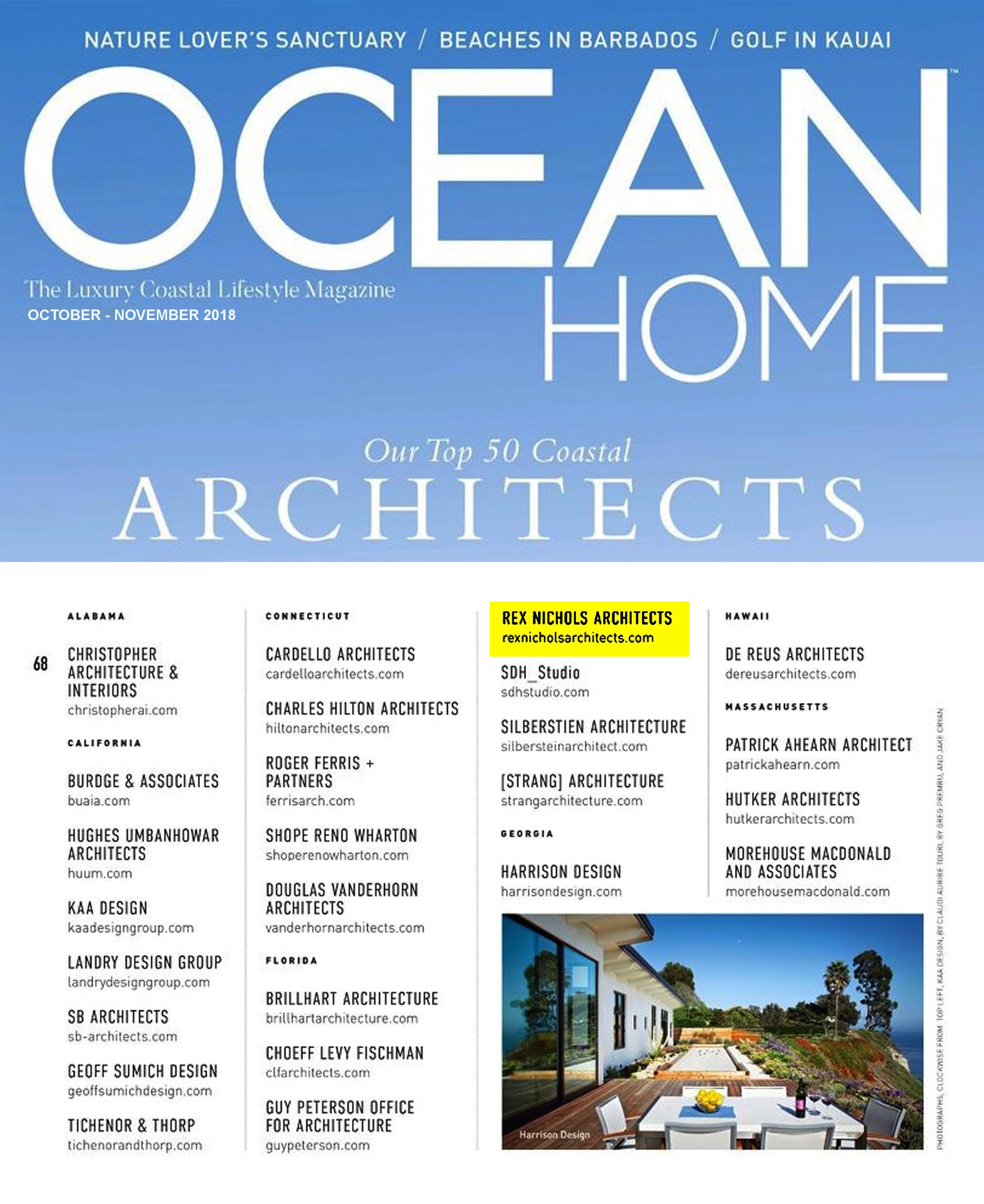 Top 50 Coastal Architects of 2018