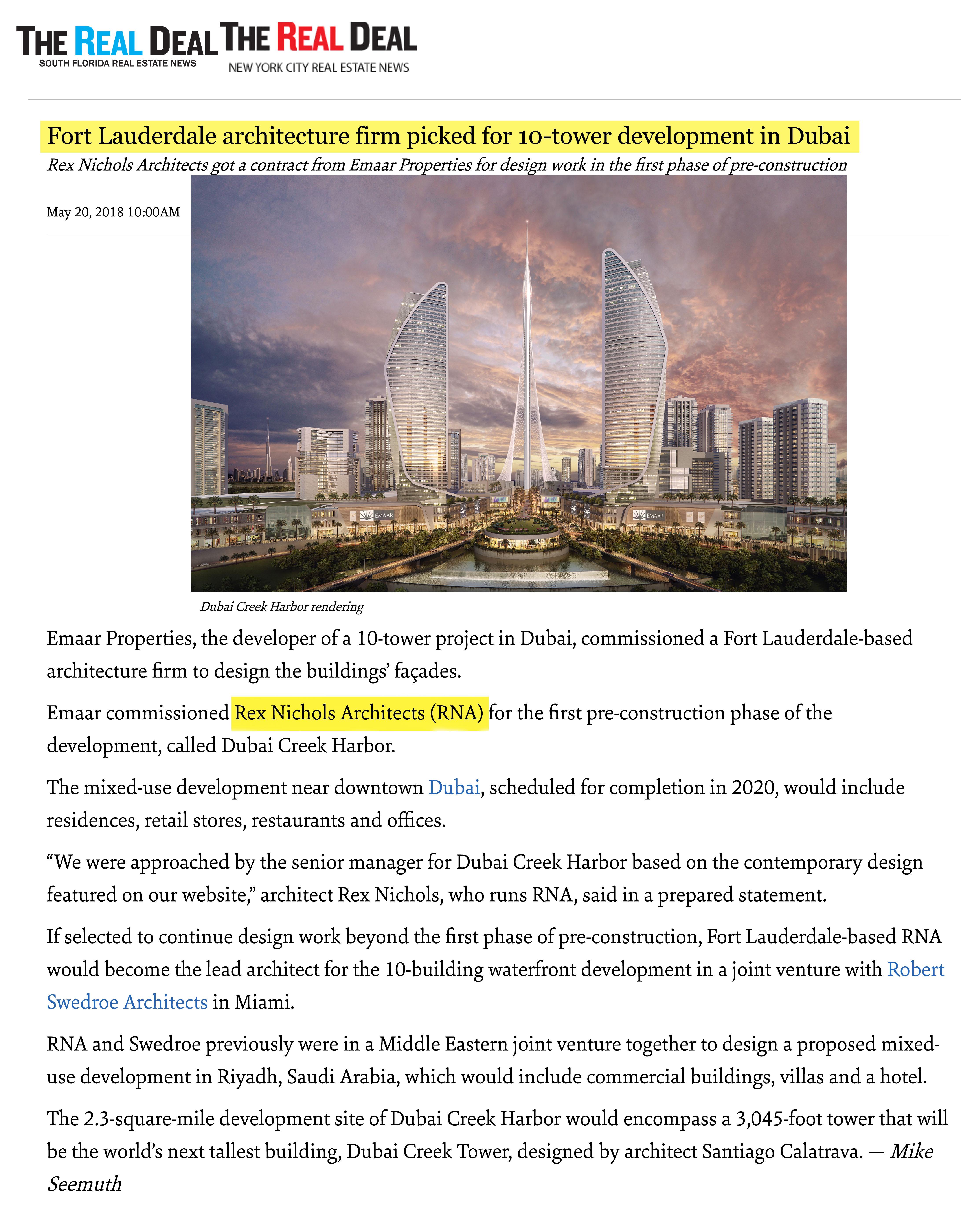 Top Miami Architects | Dubai | RNA