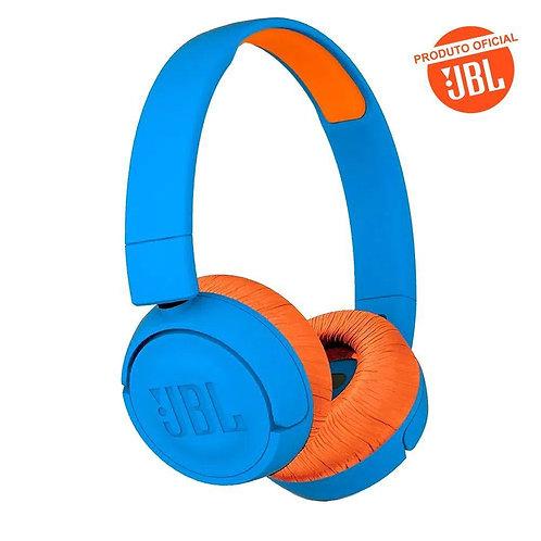 Fone De Ouvido JBL Bluetooth Infantil  JR 300 BT Azul