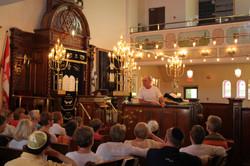 Interior of Orthodox synagogue