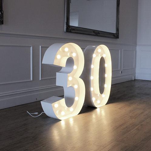 Giant Illuminated 30