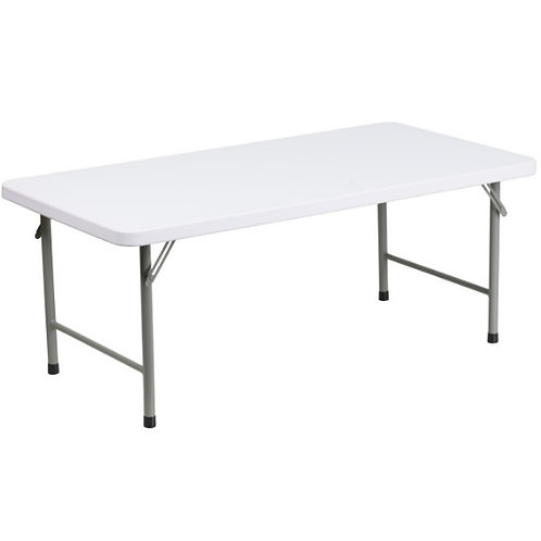 Kids White Trestle Table